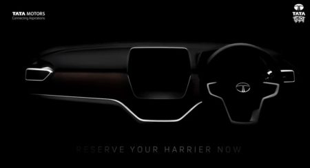 VIDEO: Tata Harrier's Uniquely Shaped Infotainment Screen Revealed In New Teaser