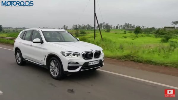 BMW X3 Review front quarter rolling