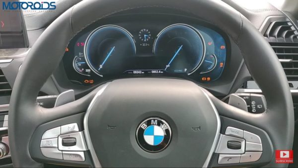 BMW X3 Review instrument console