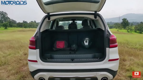 BMW X3 Review boot