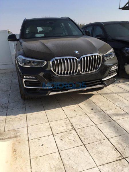BMW X5 4th generation spied front corner