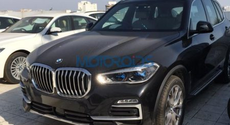 BMW X5 4th generation spied right corner
