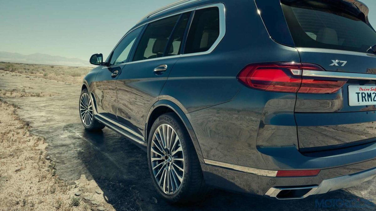 BMW X7 rear three quarters