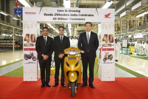Honda 2Wheelers roll out 40th million two wheeler (1)