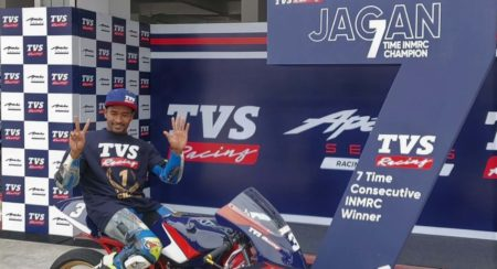 TVS Racing's Jagan Kumar Wins The Indian National Motorcycle Racing Championship For The 7th Consecutive Year