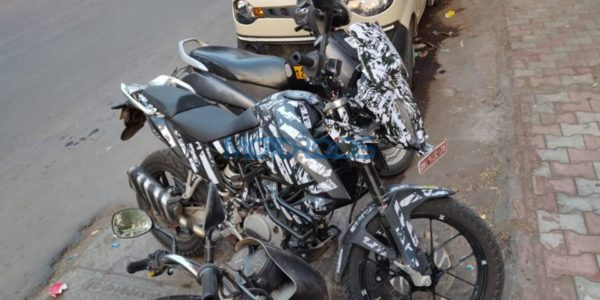 KTM Adventure 390 spied top quarter