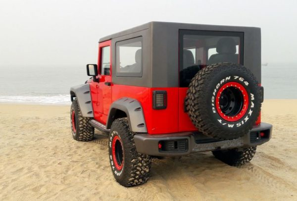 Mahindra Thar Modified rear quarter