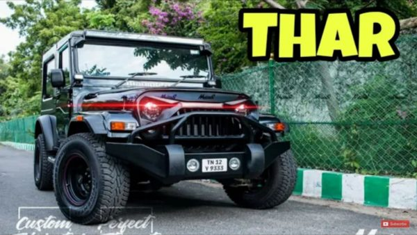 Modified Mahindra Thar front