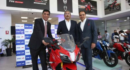 TVS Launches Apache RR 310, Ntorq 125 And RTR 160 4V In Peru