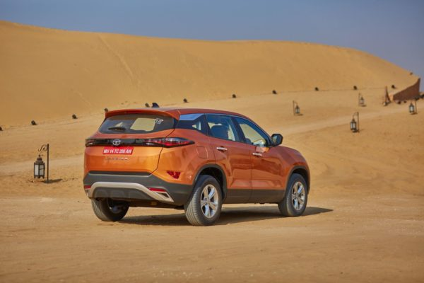 Tata Harrier rear three quarters(4)