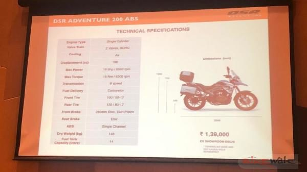 UM DSR Adventure 200 ABS to be sold in four colours 144971