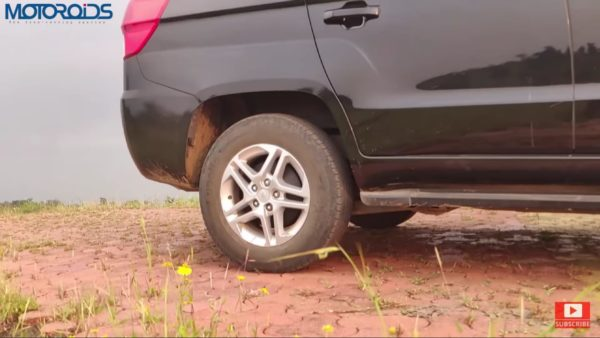 Mahindra TUV 300 Plus review 16 inch wheel