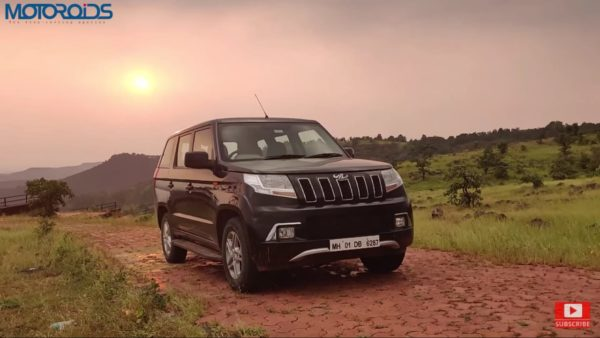 Mahindra TUV 300 Plus review front quarter