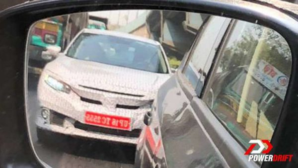 honda civic test mules mumbai spied front ORVM