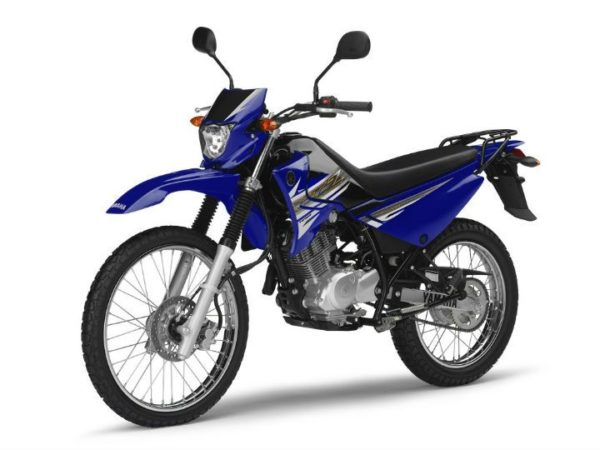 yamaha xtz125 blue quarter