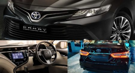 2019 Toyota Camry Hybrid collage