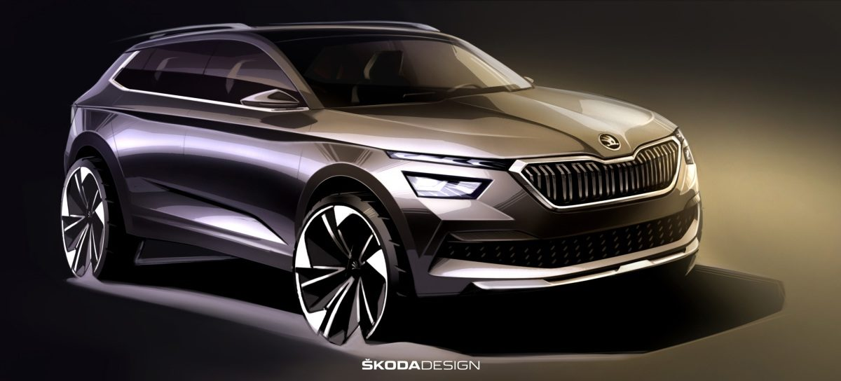 First sketches of the ŠKODA KAMIQ front