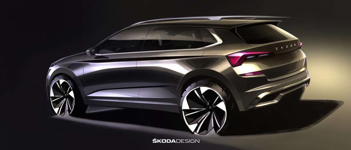First sketches of the ŠKODA KAMIQ rear