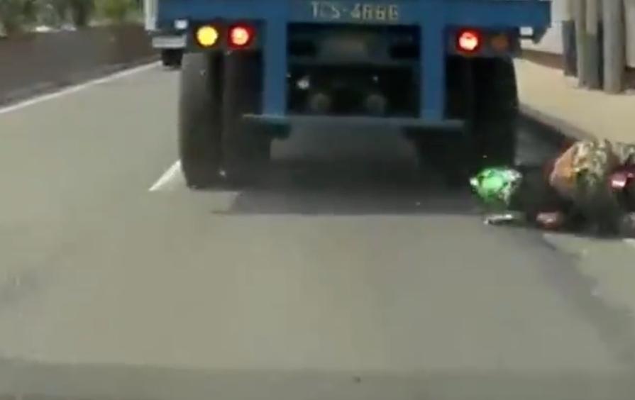 Helmet saves life rider fallen