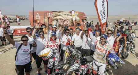 Hero MotoSports Team Rally rider, Joaquim Rodrigues and Oriol Mena