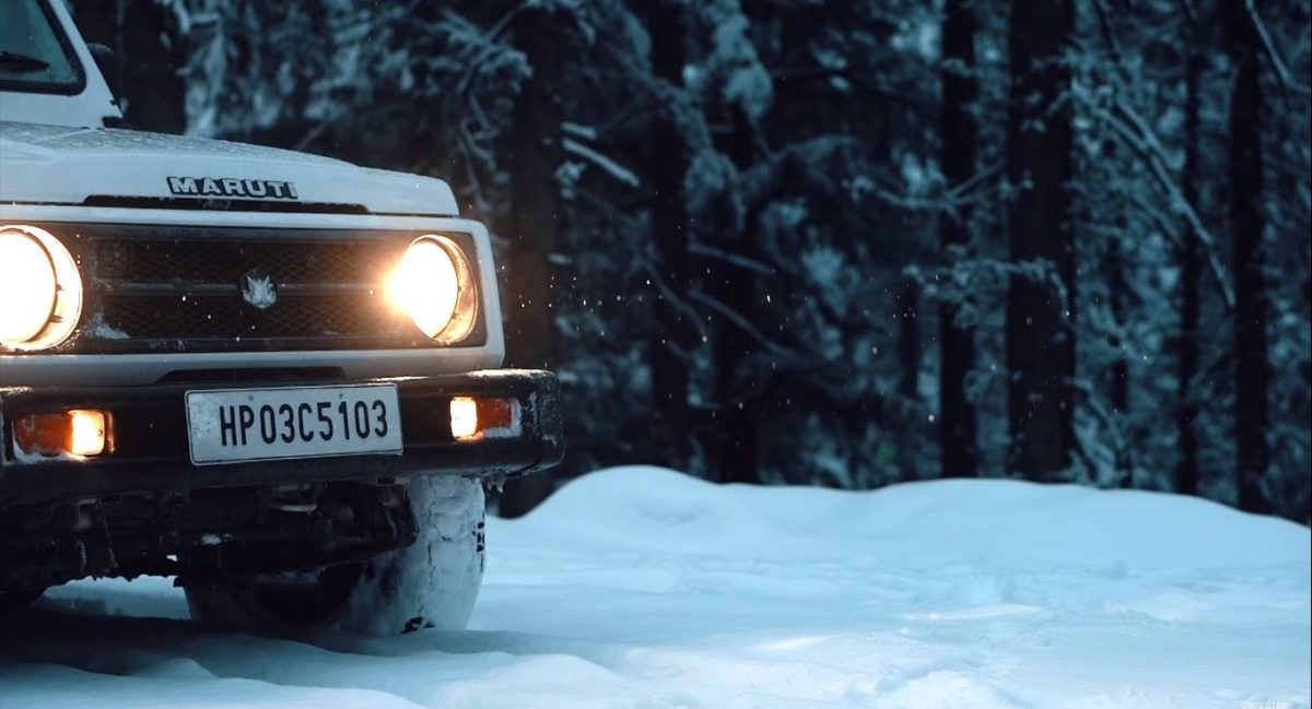 Maruti Gypsy in Snow