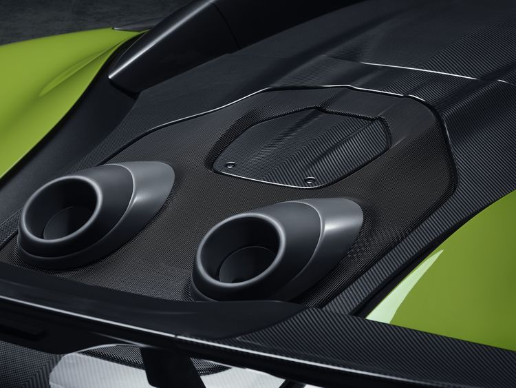 McLaren 600 LT Spider exhausts