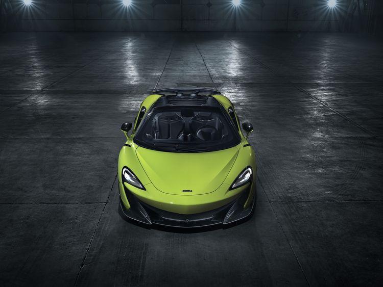 McLaren 600 LT Spider front top