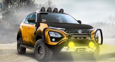 This Virtually Modded Tata Harrier Looks Ready To Light Up A Forest