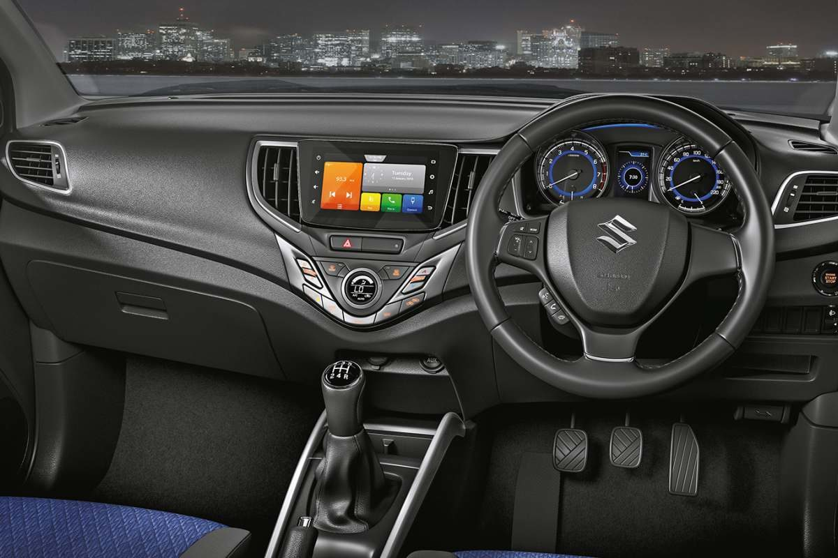New 2019 Suzuki Baleno dashboard