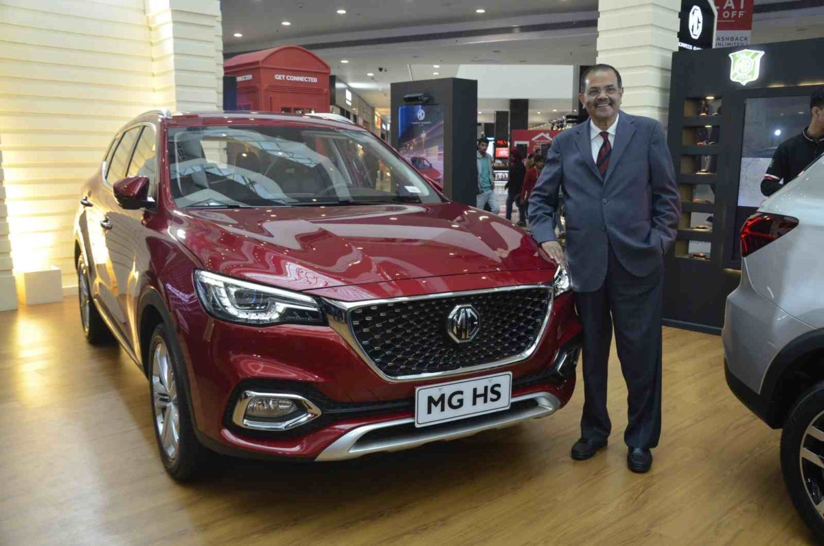 P Balendran, Executive Director, MG Motor India at Chandigarh Product Showcase