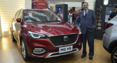P Balendran, Executive Director, MG Motor India at Chandigarh Product Showcase