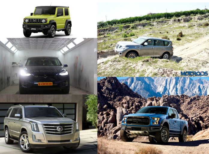 SUVs Not on sale in India