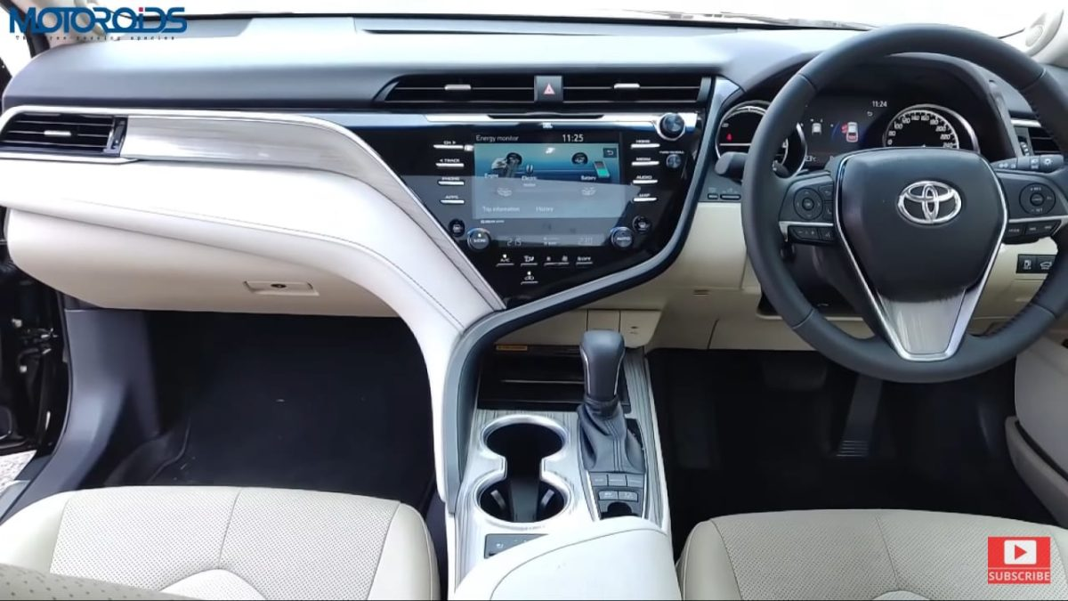Toyota Camry Hybrid Review Dash front