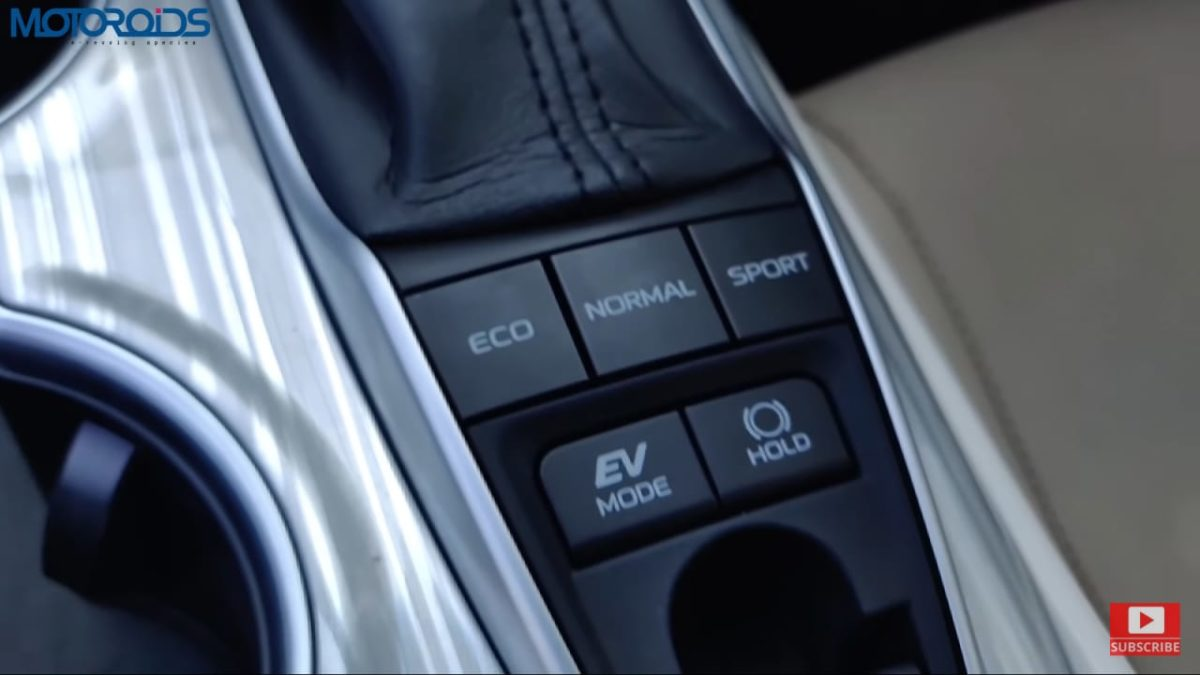 Toyota Camry Hybrid Review mode selector