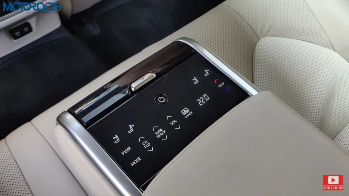Toyota Camry Hybrid Review rear controls
