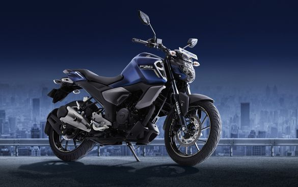Yamaha FZS FI ABS grey blue quarter