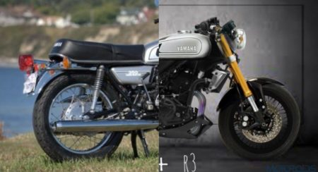 Yamaha RD 350 and Autologue design RD 3