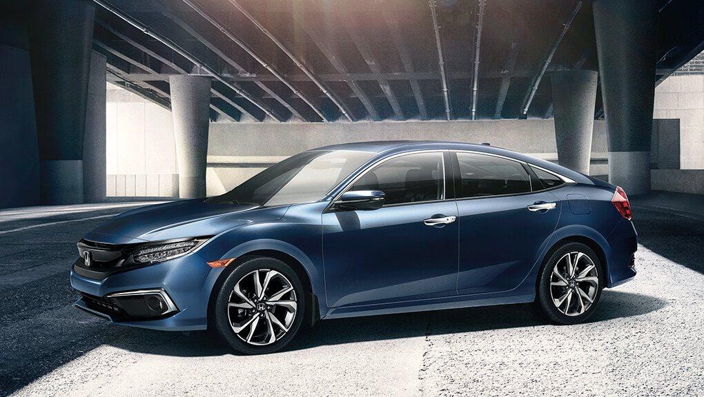 2019 Honda Civic side profile blue