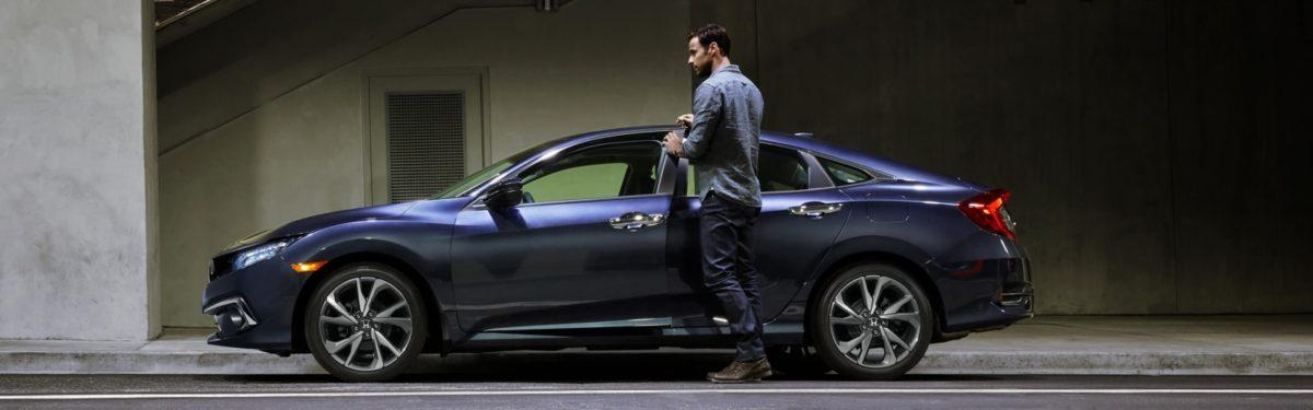 2019 Honda Civic side profile grey