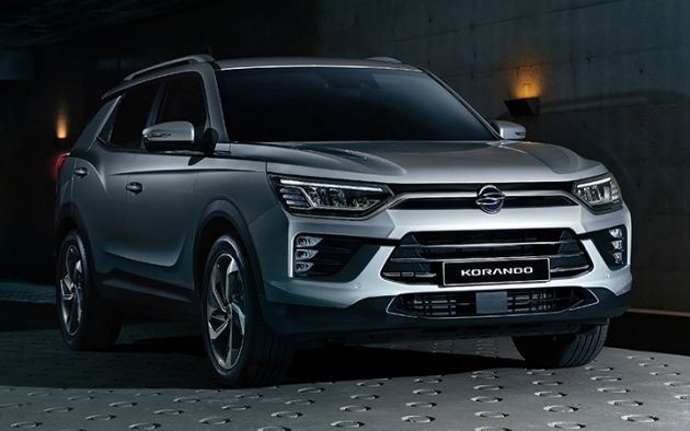 2019 Ssangyong Korando front and three quarters