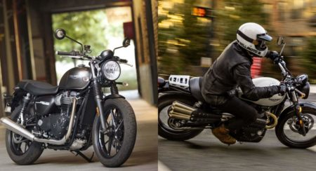 2019 Triumph Street Twin and Street Scrambler