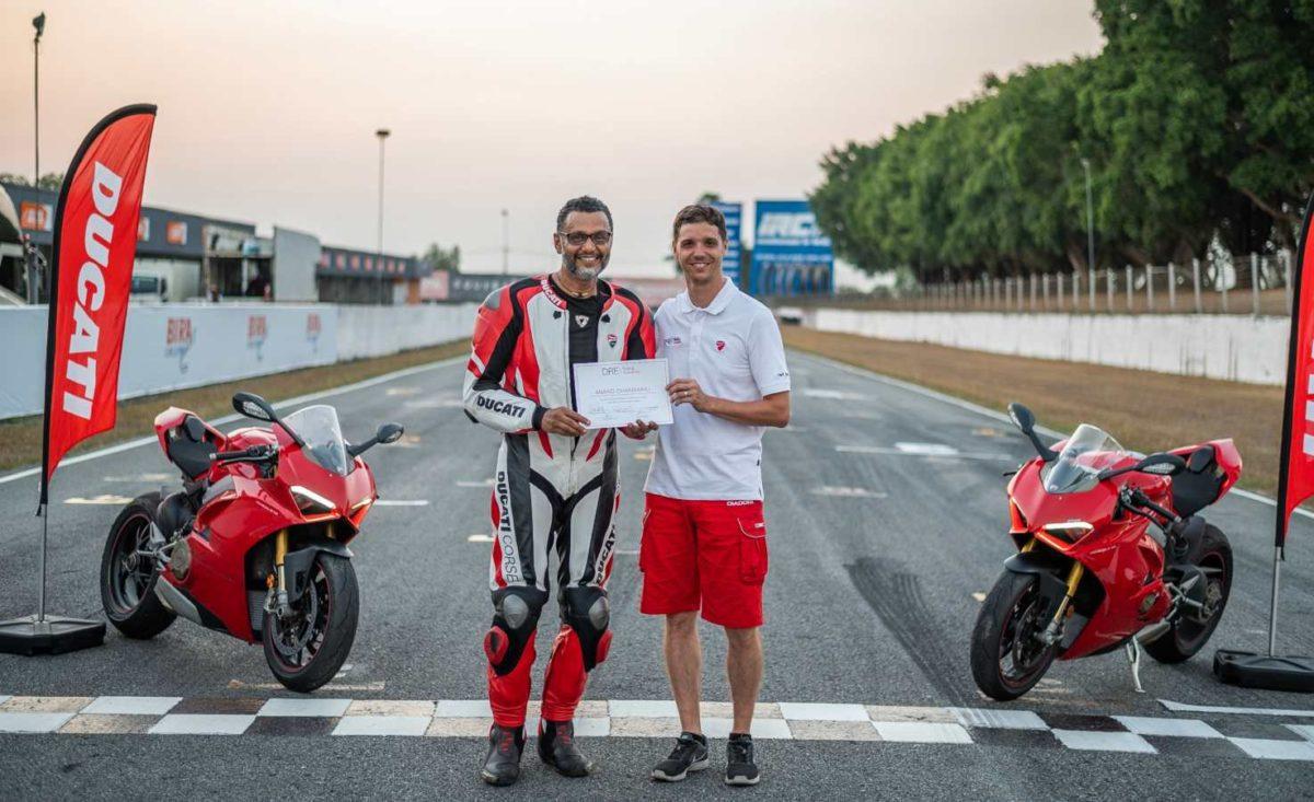 Anand Dharmaraj Ducati DRE trainer