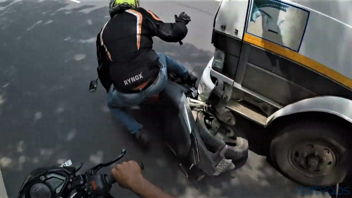 Bike crash and road rage