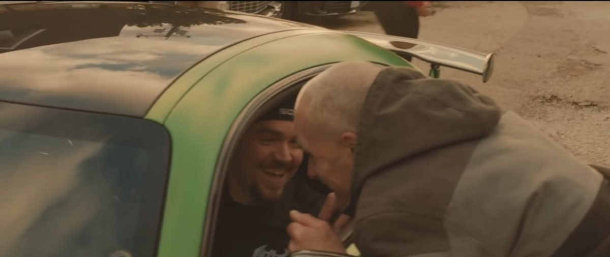 Blind man drives for the first time father son laughing