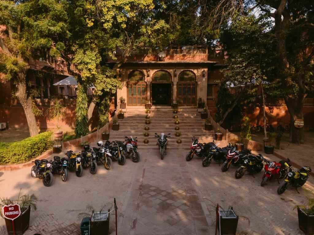 Ducati Dream tour Rajasthan hotel shot