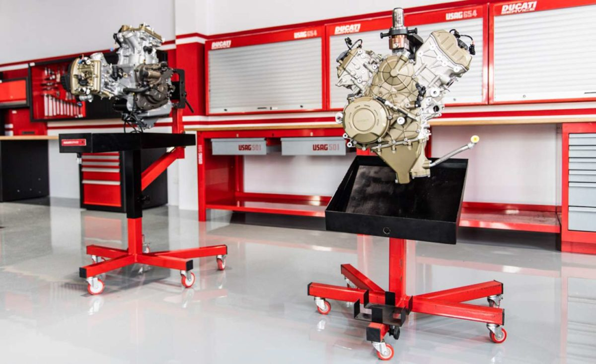 Ducati sets up training facility in Thailand engine stands