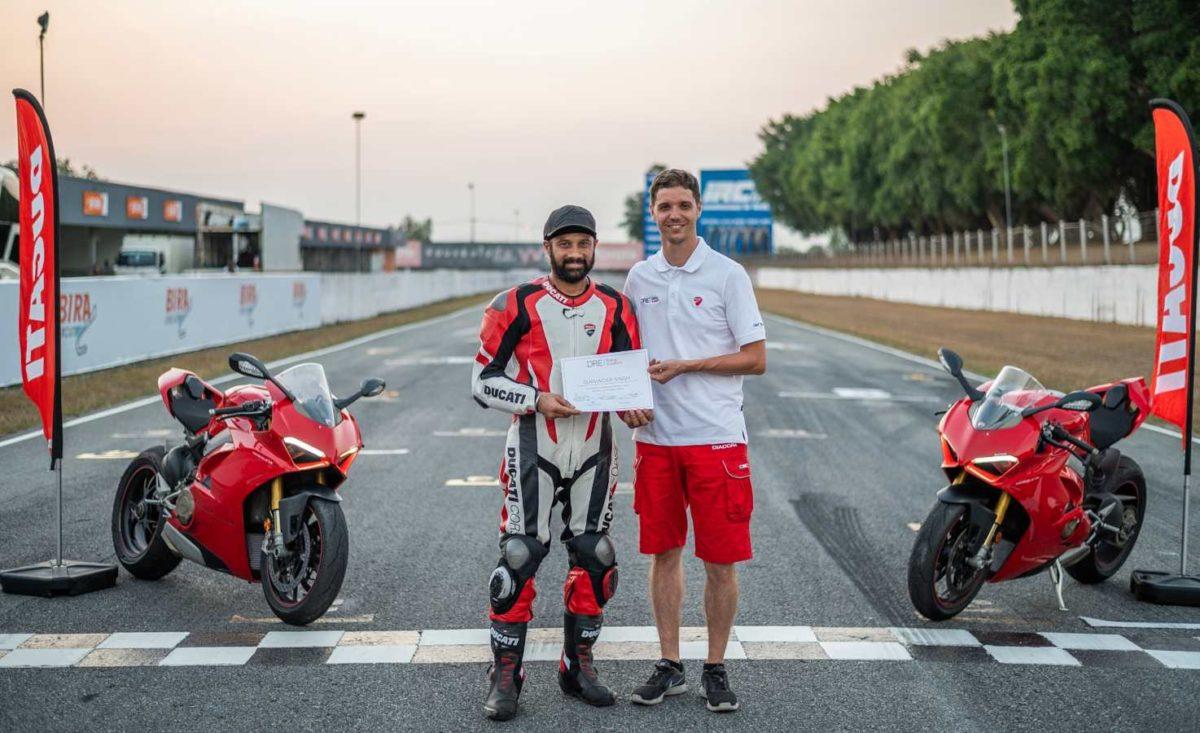 Guruvider Singh Ducati DRE trainer