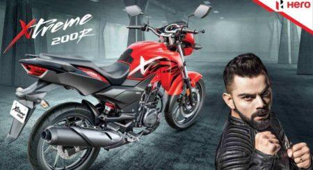 Hero Motocorp Xtreme 200R and Virat Kohli