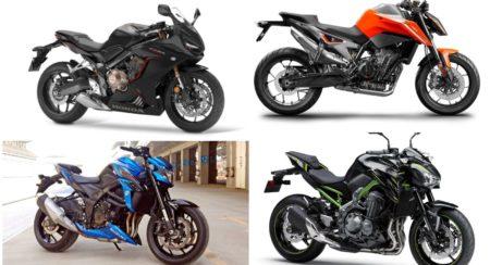 Paper Fight – Honda CBR650R vs Suzuki GSX-S750 vs KTM Duke 790 vs Kawasaki Z900