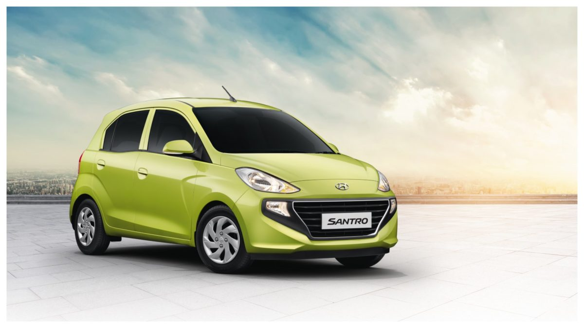Hyundai All New Santro Diana Green quarter